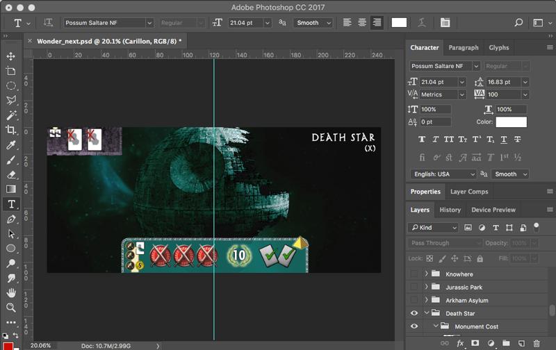 Custom Death Star 7 Wonders board concept.